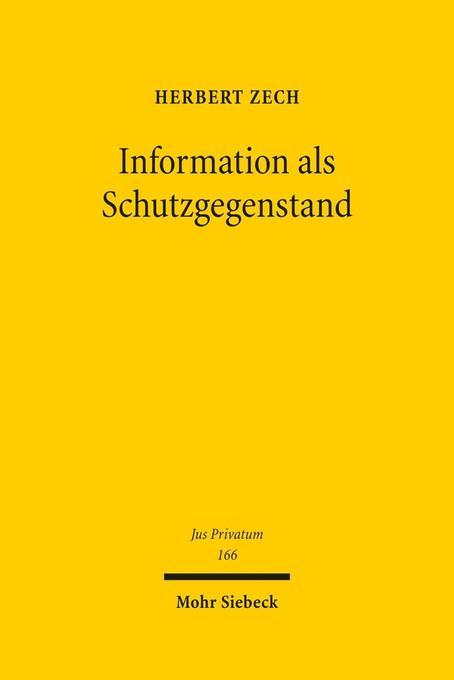 Information als Schutzgegenstand als Buch von H...