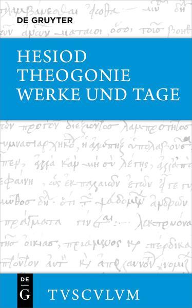 Theogonie / Werke und Tage als Buch (Ledereinband)