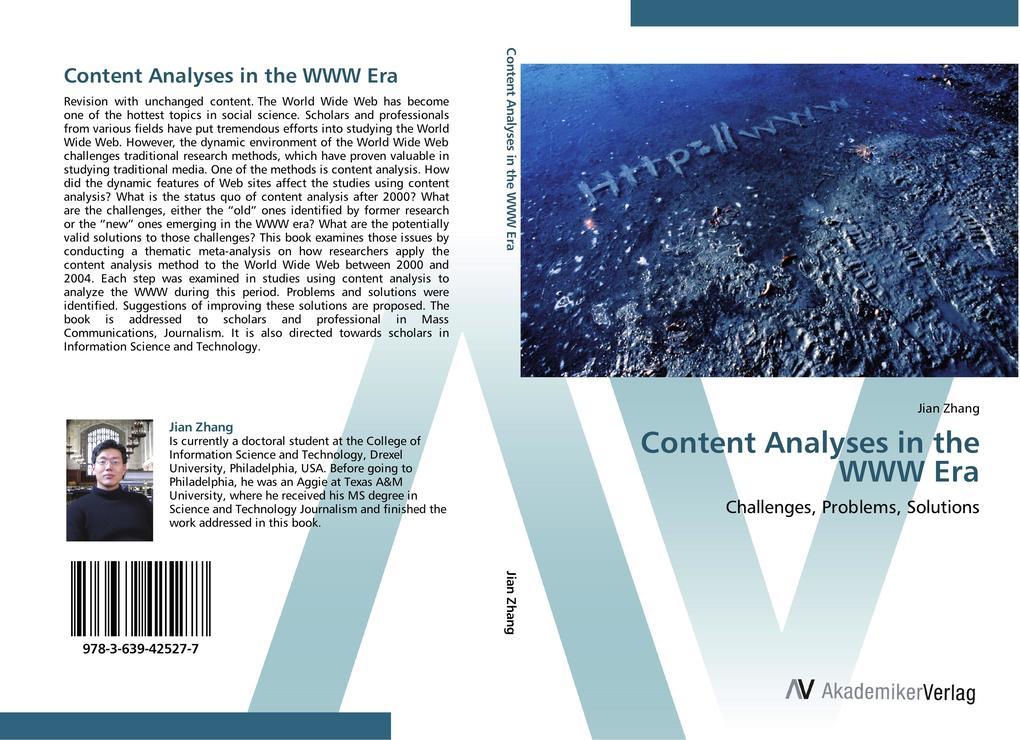 Content Analyses in the WWW Era als Buch von Ji...