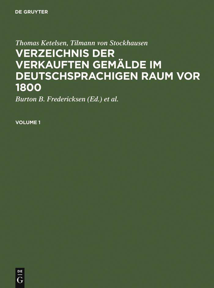 Verzeichnis der verkauften Gemalde im deutschsp...
