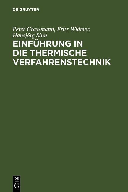 Einführung in die thermische Verfahrenstechnik ...