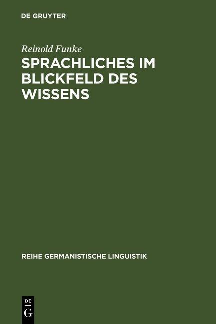 Sprachliches im Blickfeld des Wissens als eBook...