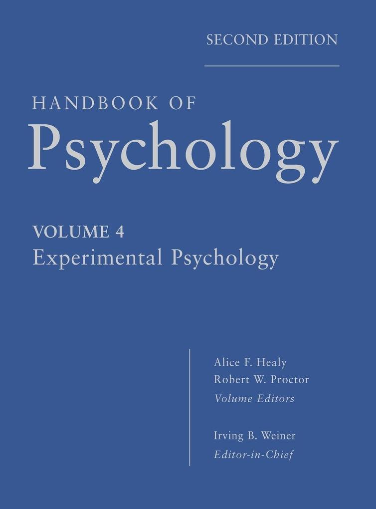 Handbook of Psychology 04 als Buch von Irving B...
