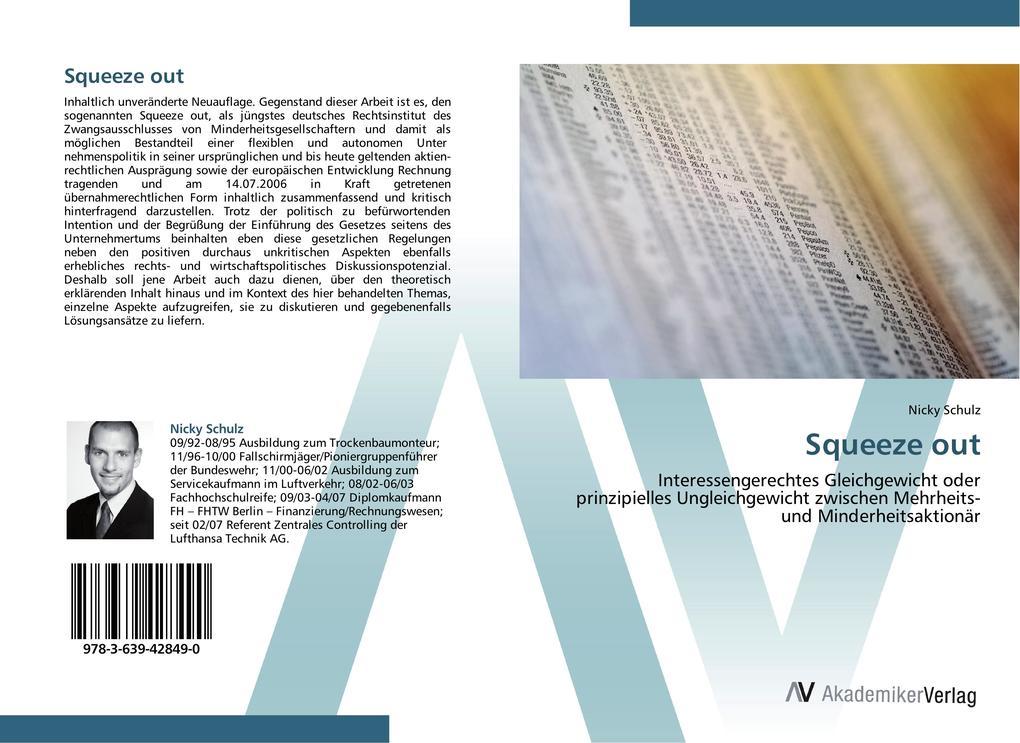 Squeeze out als Buch von Nicky Schulz