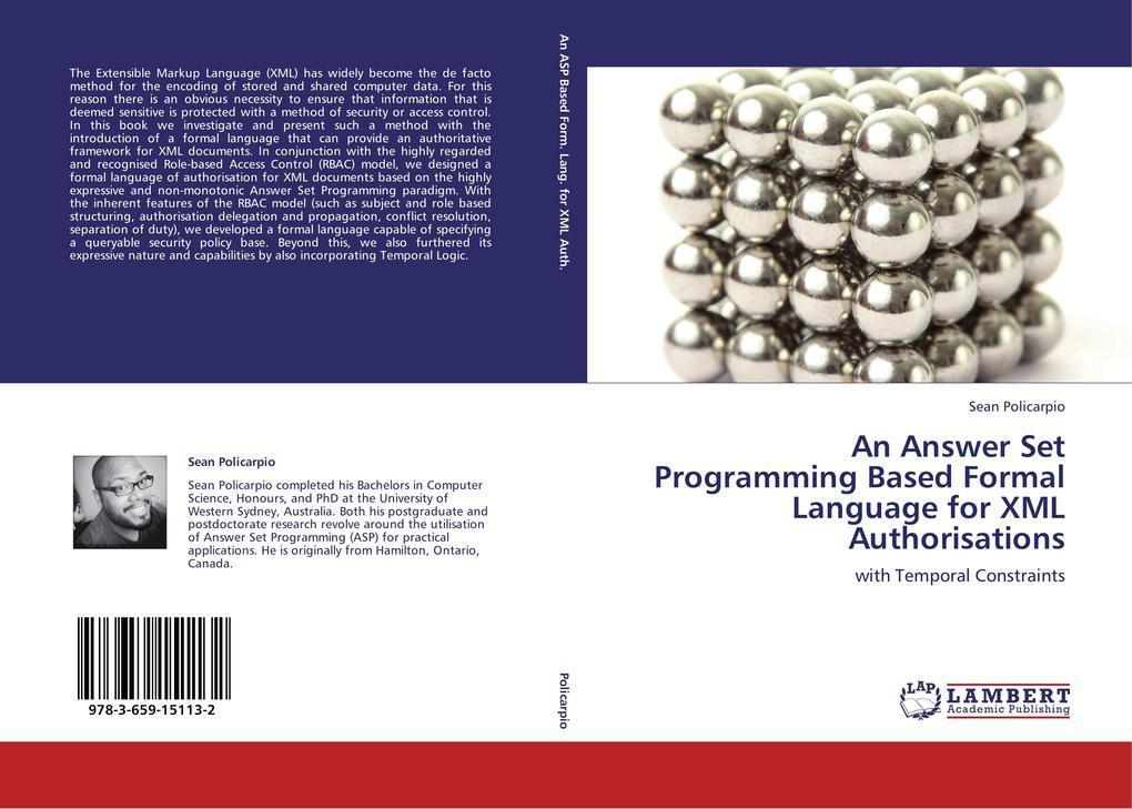 An Answer Set Programming Based Formal Language...