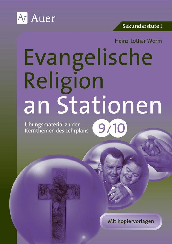 Evangelische Religion an Stationen 9-10 als Buc...