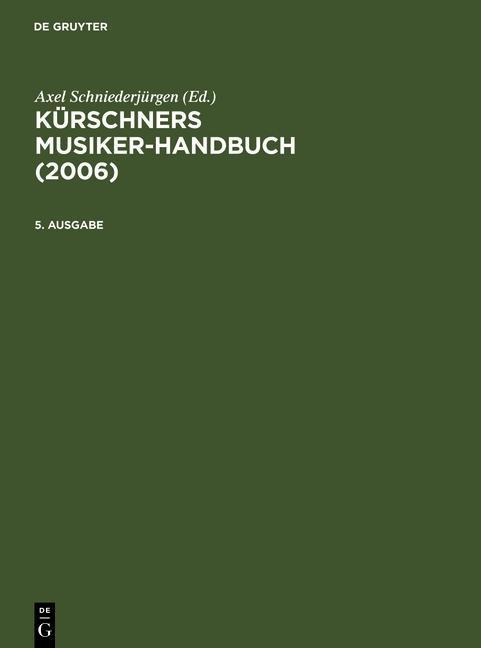 Kürschners Musiker-Handbuch 2006 als eBook Down...