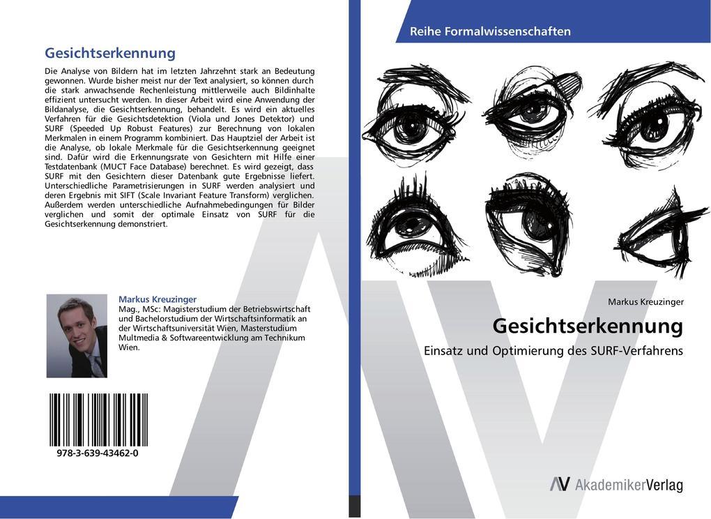 Gesichtserkennung als Buch von Markus Kreuzinger