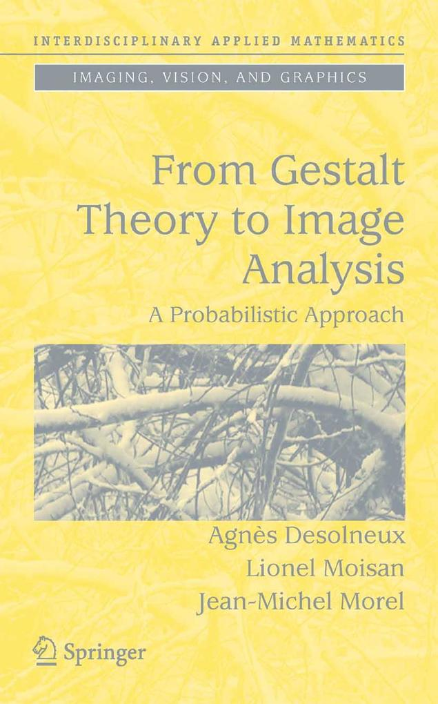 From Gestalt Theory to Image Analysis als eBook...