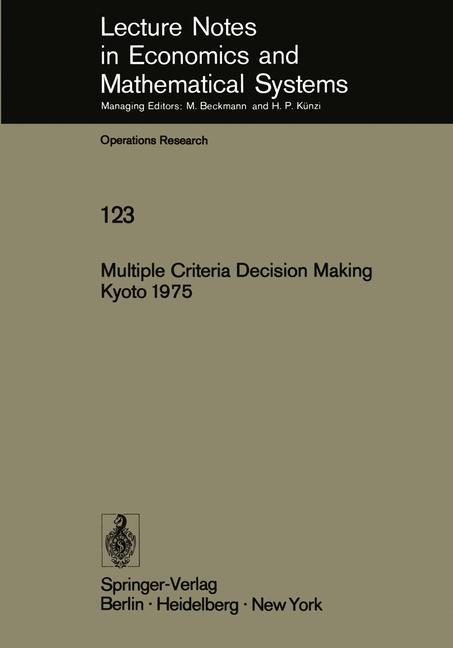 Multiple Criteria Decision Making Kyoto 1975 al...