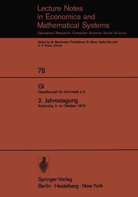 GI. Gesellschaft für Informatik e.V. 2. Jahrest...