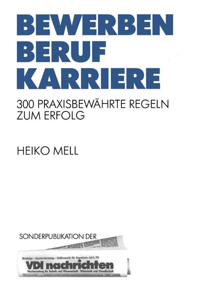 Bewerben Beruf Karriere als Buch von Heiko Mell