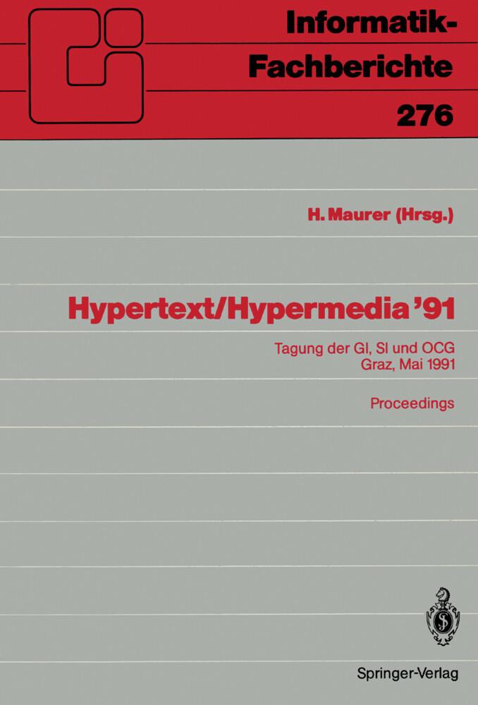 Hypertext / Hypermedia ´91 als Buch von
