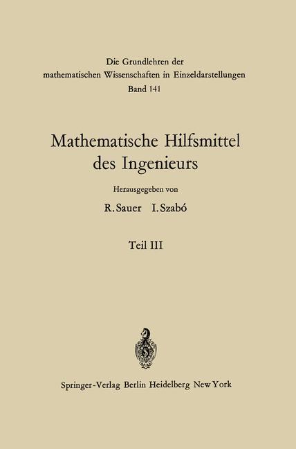 Mathematische Hilfsmittel des Ingenieurs als Bu...