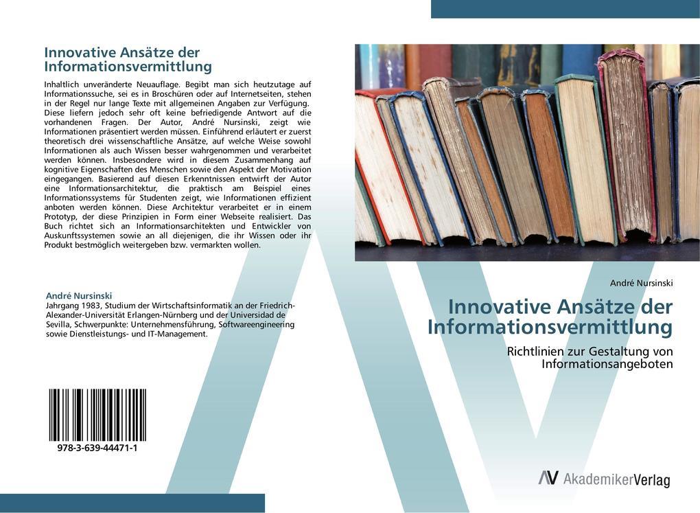 Innovative Ansätze der Informationsvermittlung ...
