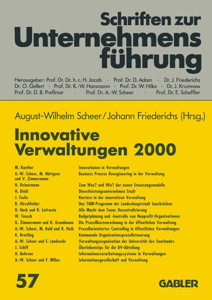 Innovative Verwaltungen 2000 als Buch von