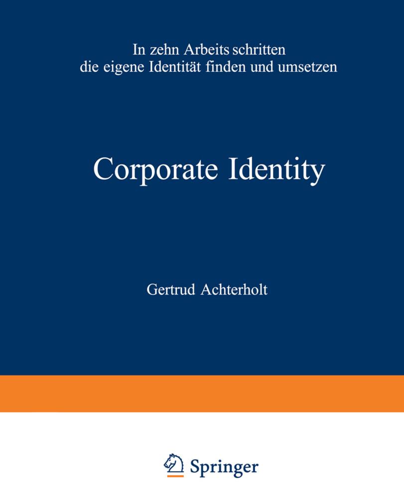 Corporate Identity als Buch von Gertrud Achterholt