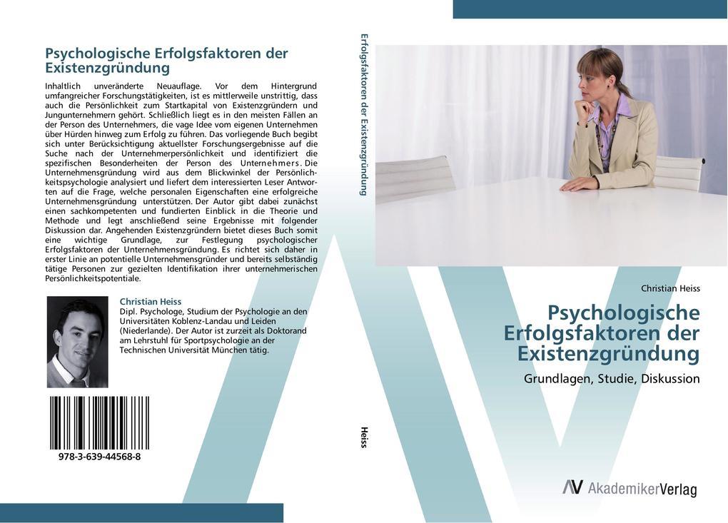 Psychologische Erfolgsfaktoren der Existenzgrün...