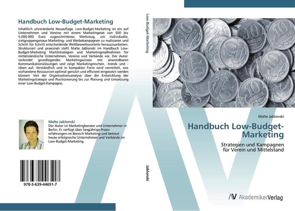 Handbuch Low-Budget-Marketing als Buch von Malt...