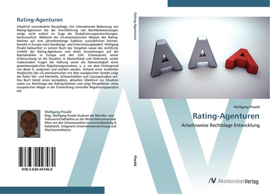 Rating-Agenturen als Buch von Wolfgang Piwald