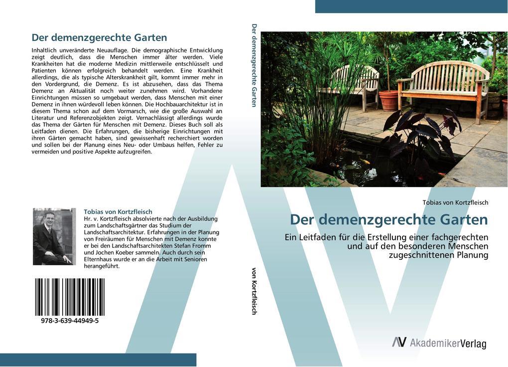 Der demenzgerechte Garten als Buch von Tobias v...