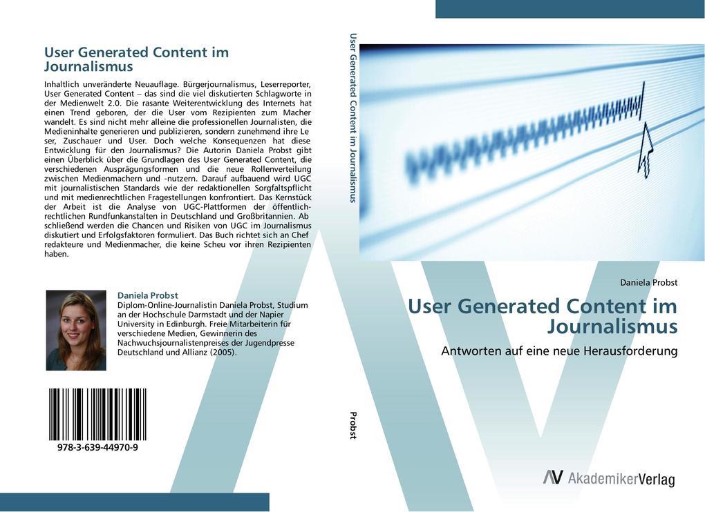 User Generated Content im Journalismus als Buch...