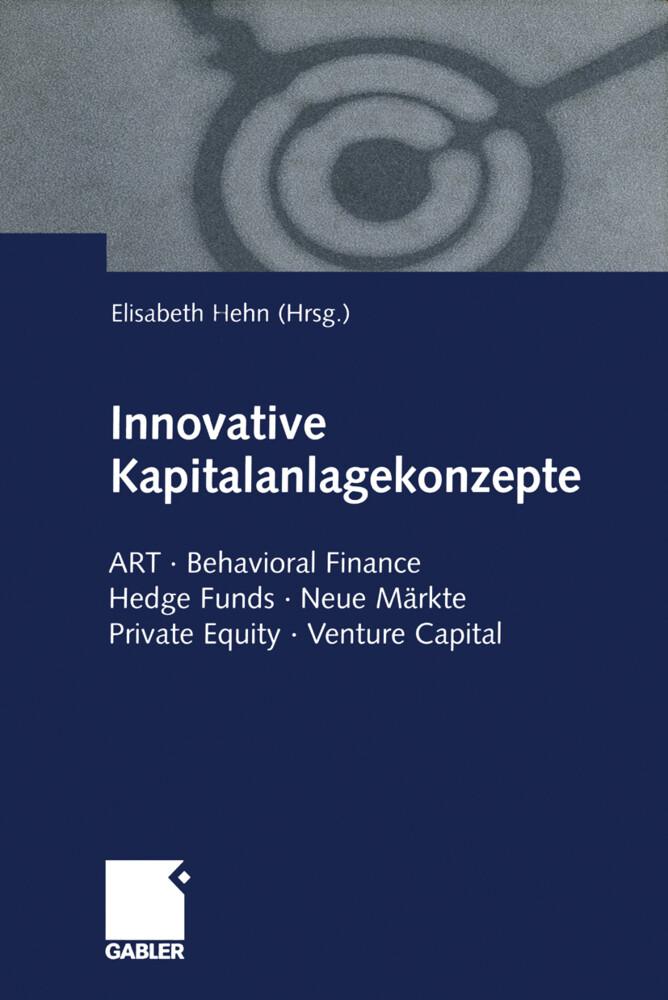 Innovative Kapitalanlagekonzepte als Buch von
