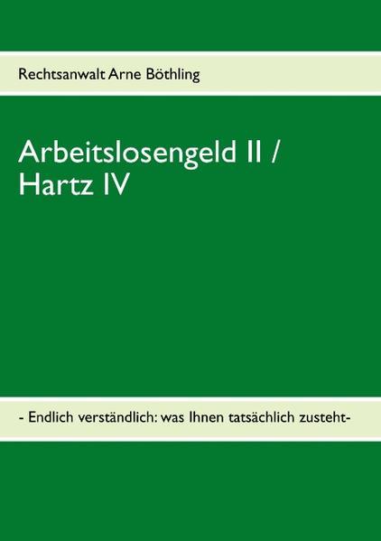 Arbeitslosengeld II / Hartz IV als Buch von