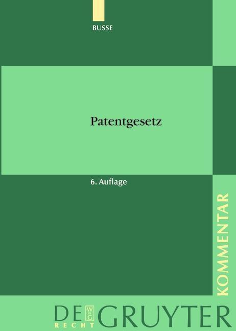 Patentgesetz als eBook Download von