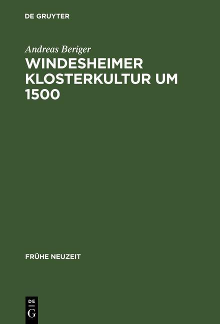 Windesheimer Klosterkultur um 1500 als eBook Do...