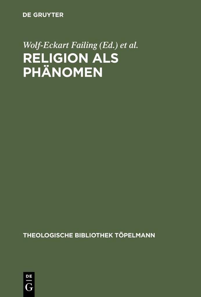 Religion als Phänomen als eBook Download von