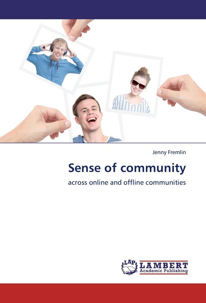 Sense of community als Buch von Jenny Fremlin