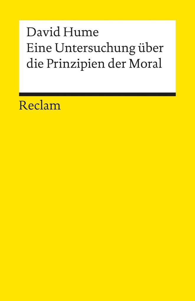 Eine Untersuchung über die Prinzipien der Moral als Taschenbuch