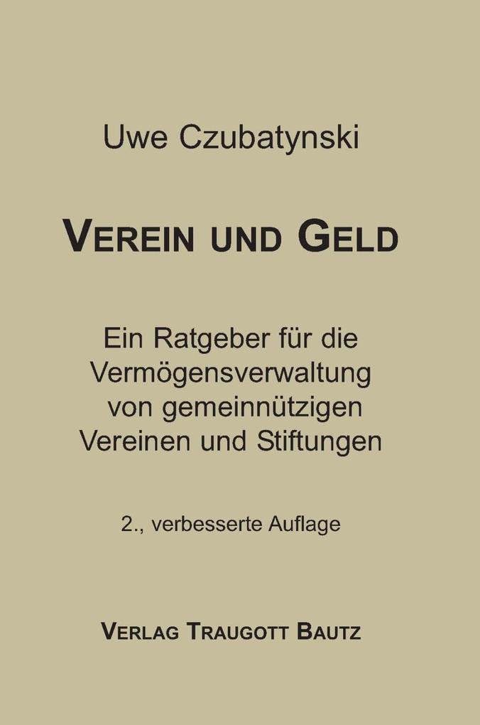 Verein und Geld als eBook Download von Uwe Czub...
