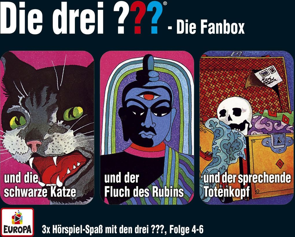 die drei box 02 folgen 4 6 drei fragezeichen 3 cds h rbuch alfred hitchcock. Black Bedroom Furniture Sets. Home Design Ideas