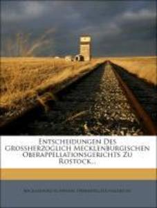Entscheidungen des großherzoglich mecklenburgis...