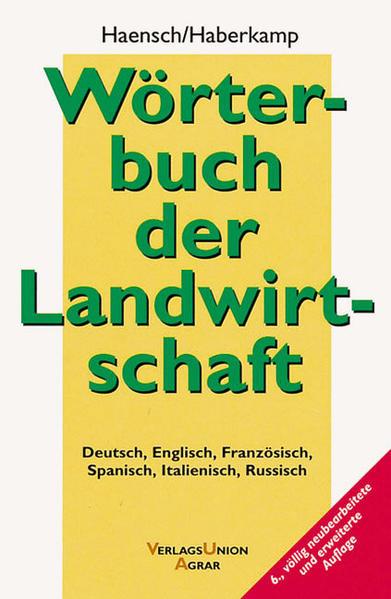 Wörterbuch der Landwirtschaft als Buch von