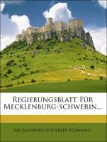 Regierungsblatt für das Großherzogthum Mecklenb...