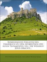 Kurzgefasstes exegetisches Handbuch zu den Apok...