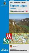 Sigmaringen Naturpark Obere Donau Freizeitkarte 1 : 50 000
