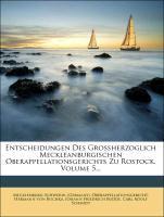 Entscheidungen Des Grossherzoglich Meckleanburg...