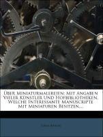 Über Miniaturmalereien. als Taschenbuch von Tob...