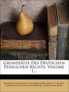 Grundsätze des deutschen peinlichen Rechts.