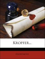 Tobias Kropfer. als Taschenbuch von Anonymous