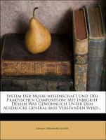 System der Musik-Wissenschaft und der Praktisch...
