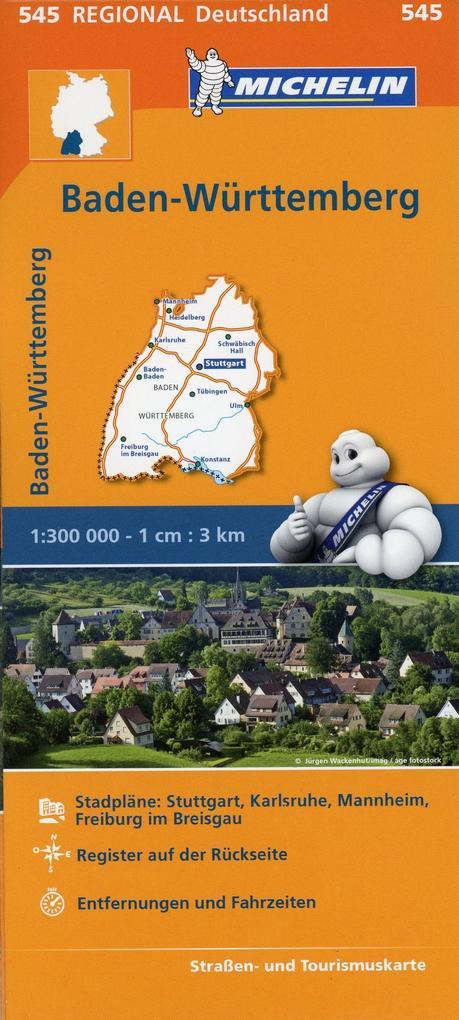 Michelin Regionalkarte Baden-Württemberg 1 : 30...