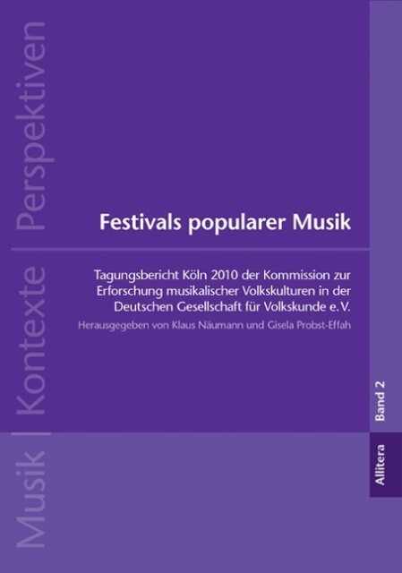 Festivals popularer Musik als Buch von
