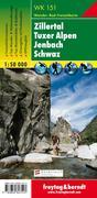 Zillertal, Tuxer Alpen, Jenbach, Schwaz 1 : 50 000. WK 151