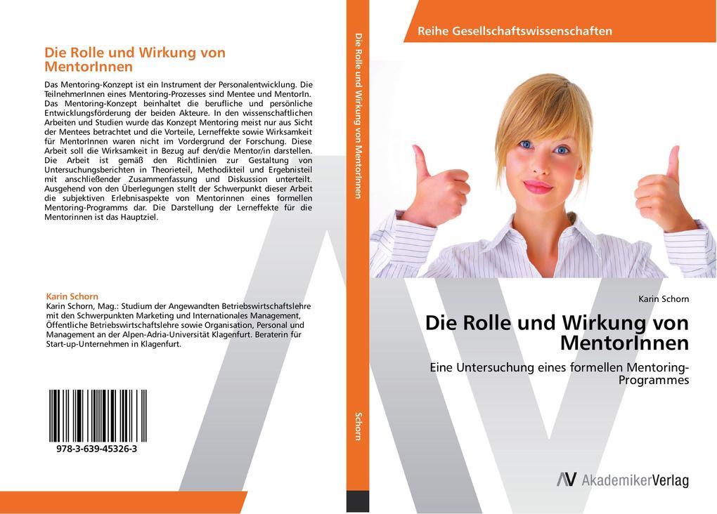 Die Rolle und Wirkung von MentorInnen als Buch ...