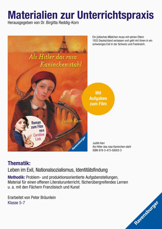 Judith Kerr: Als Hitler das rosa Kaninchen stahl. Materialien zur Unterrichtspraxis als Buch